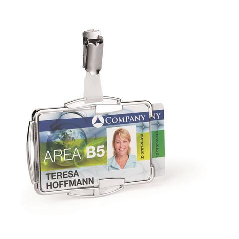 Бейдж Держатель д/двух пластиковых карт Durable 8902 с защитой от RFID
