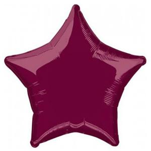 Шар Звезда бургундия 46 см