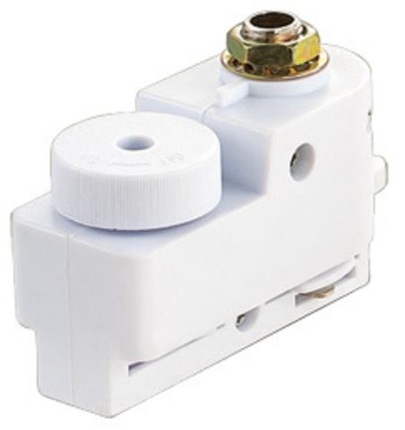 UBX-Q121 K61 WHITE 1 POLYBAG Адаптер для однофазного шинопровода. Цвет-белый. Упаковка-полиэтиленовый пакет.