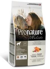 Корм для взрослых собак, Pronature Holistic, с индейкой и клюквой