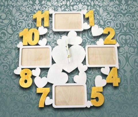 Часы фоторамка из дерева