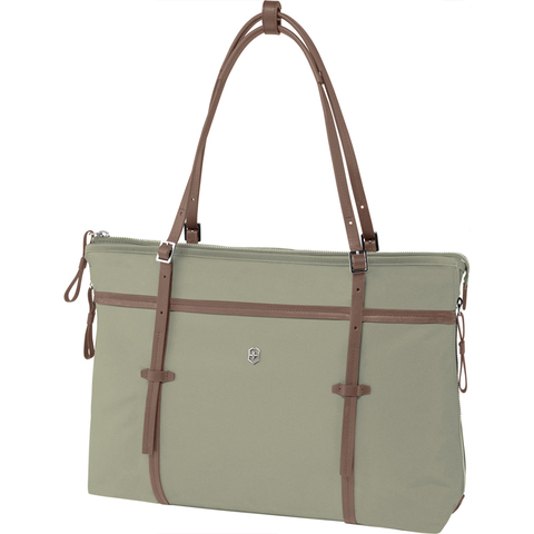 Сумка VICTORINOX Victoria Sage 15,6'', зеленая, нейлон/кожа/микрозамша, 41x9x36 см, 13 л