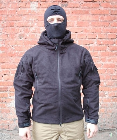 Куртка флисовая «ДОЗОРНЫЙ-2» с мембраной (Черный)
