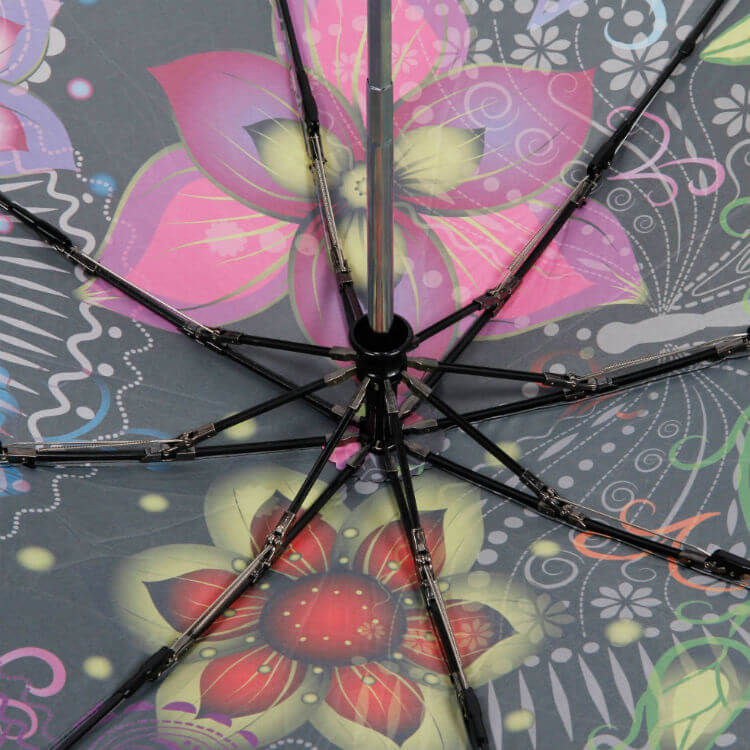 Зонт складной Barbarina 2301 Fiori neri