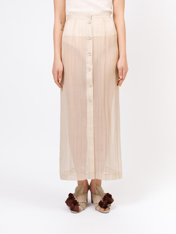 Верхняя полосатая юбка