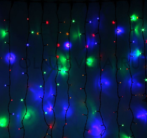 Гирлянда светодиодный занавес мультицветная, 2х3 м,LED 760-220V