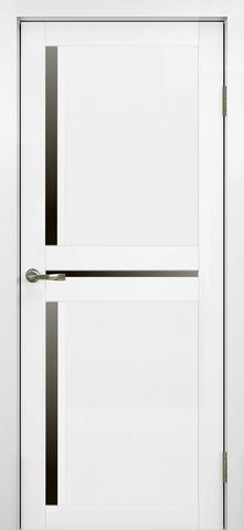 > Экошпон Optima Porte Турин 523.221, стекло лакобель чёрное, цвет белый монохром, остекленная