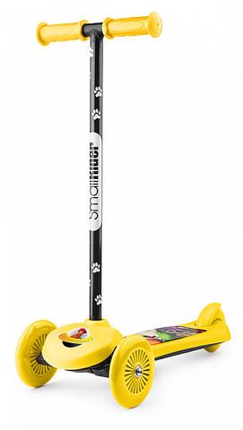 Самокат трёхколёсный простой (жёлтый)