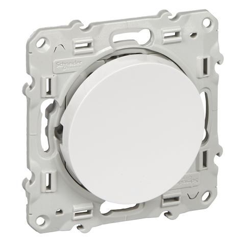 Выключатель/переключатель одноклавишный на промежуточный(перекрёстный, схема 7) 10 АХ, 250 В. Цвет Белый. Schneider Electric(Шнайдер электрик). Odace(Одес). S52R205