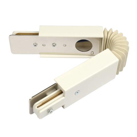 UBX-Q121 K24 WHITE 1 POLYBAG Соединитель для 2-х шинопроводов. Гибкий.Однофазный. Цвет — белый. Упаковка — полиэтиленовый пакет.