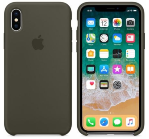 iPhone X/XS Silicone Case Dark Olive