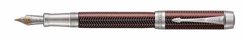 Перьевая ручка Parker Duofold Prestige Centennial Burgundy Chevron CT123