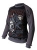 "Black-grey insulated sweatshirt ""Iron rain"""