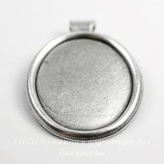Сеттинг - основа - подвеска для камеи или кабошона 25х18 мм (оксид серебра)