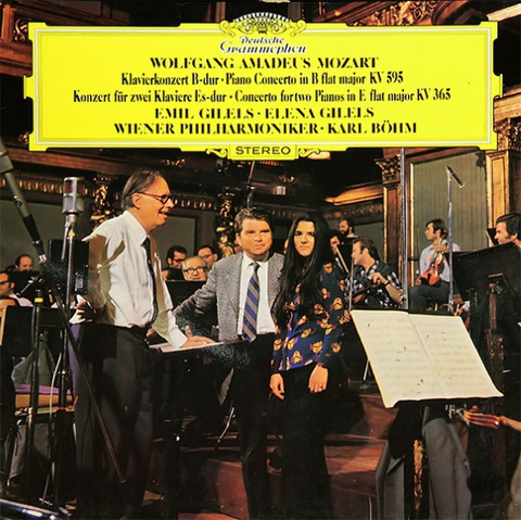 Emil Gilels, Elena Gilels, Vienna Philharmonic, Karl Bohm / Mozart: Piano Concerto In B Flat Major KV 595, Concerto For Two Pianos In E Flat Major KV 365 (LP)