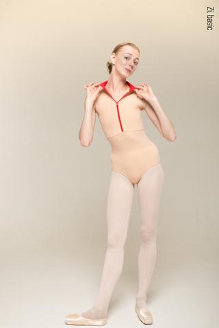 Zip leotard (nude +)
