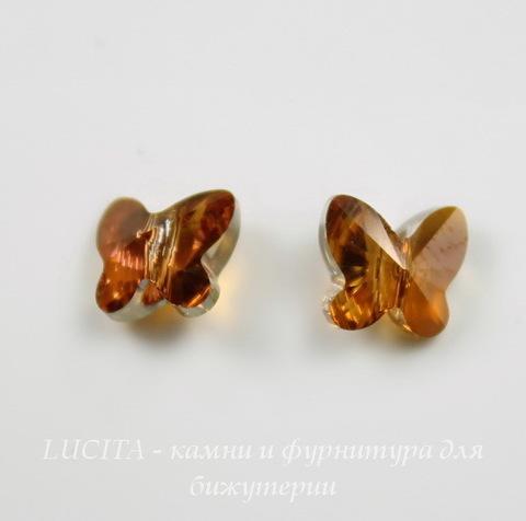 5754 Бусина в виде бабочки Сваровски Crystal Copper 8 мм ()