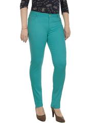 718-3 джинсы женские, зеленые