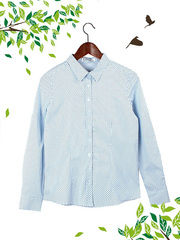 21038-2 рубашка женская, голубая