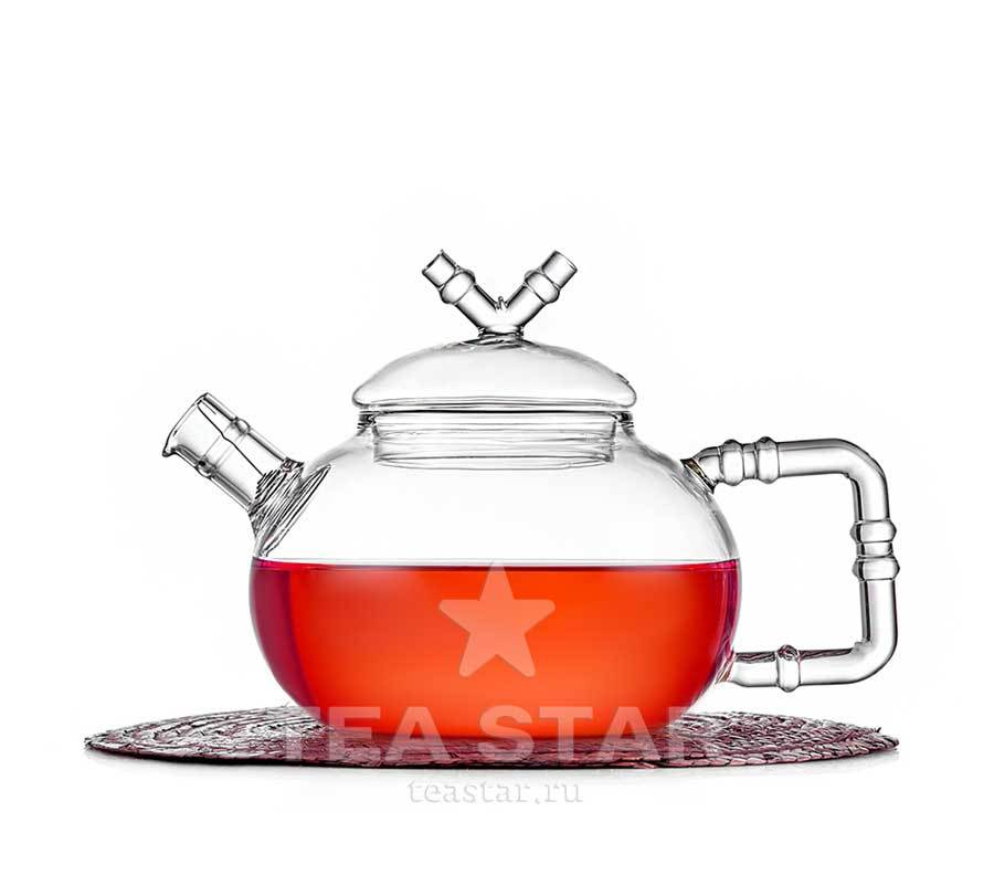 "Чайники заварочные стеклянные Заварочный чайник стеклянный ""Стебель бамбука"", 600 мл. zavarochniy_chaynik_teastar_stebel.jpg"