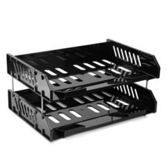 Лотки СИТИ-набор из 2х лотков гориз-ых на металл-х стержнях черный