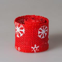 Лента новогодняя красная (1м) 1259