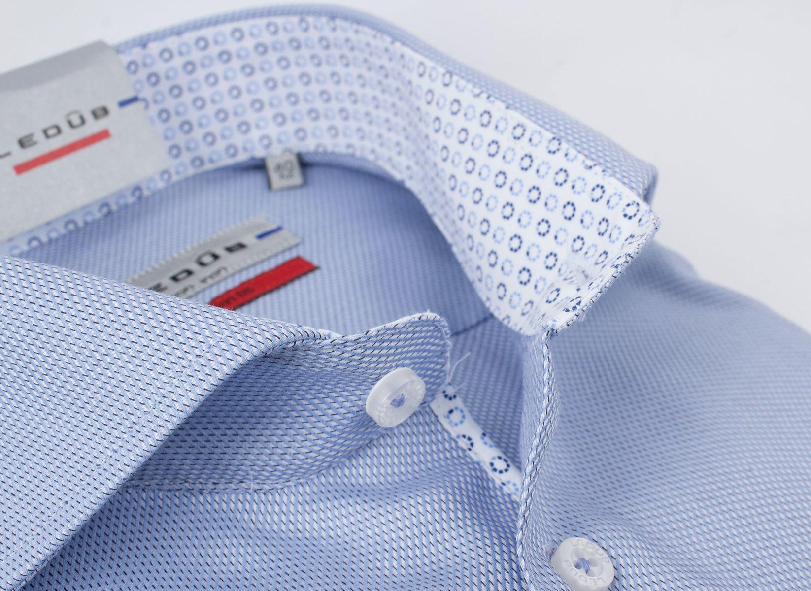 Рубашка Ledub slim fit 0135809-130-140-000-SF-Blue
