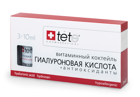 Tete Hyaluronic Acid & Antioxidants - Гиалуроновая кислота + Антиоксиданты