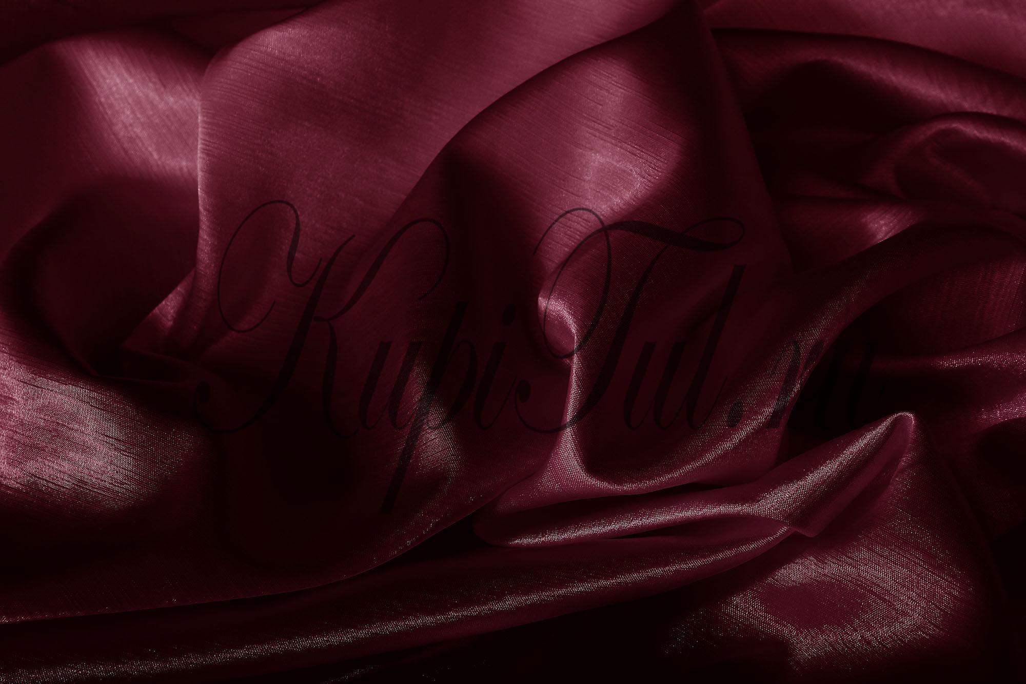 Длинные шторы. Leonardo (Бордовый),  однотонный шик-сатен.