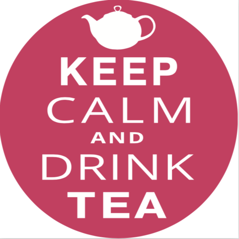 Значек Keep calm drink tea