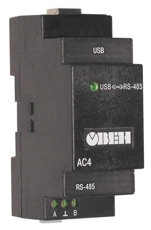 АС4 преобразователь интерфейсов RS-485 <-> USB c гальванической изоляцией