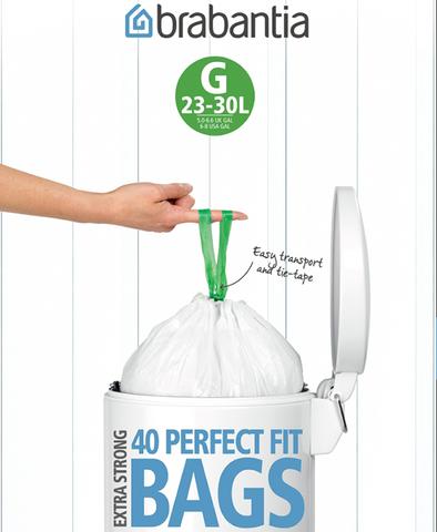 Мешки для мусора PerfectFit, размер G (23-30 л), упаковка-диспенсер, 40 шт., арт. 375668 - фото 1