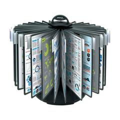 Демо-система MEGA Office FDS009 настольная карусель 30 пан.,черный