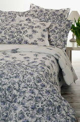 Постельное белье 2 спальное Mirabello Ombre di Rose голубое