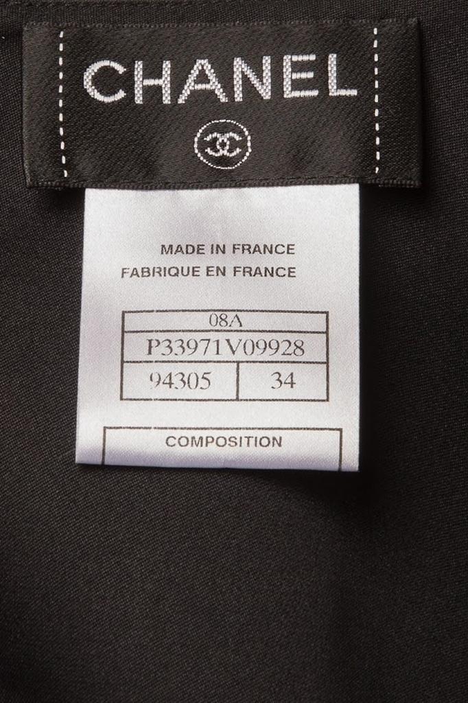 Элегантный топ из шелка черного цвета от Chanel, 34 размер.