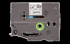 Термоусадочные ленты HSE-231 чёрный шрифт на белой основе, 11,7 мм * 1,5 м для Brother PTE300VP, PTE550WVP, PTP700, PTP750W, PTP900W