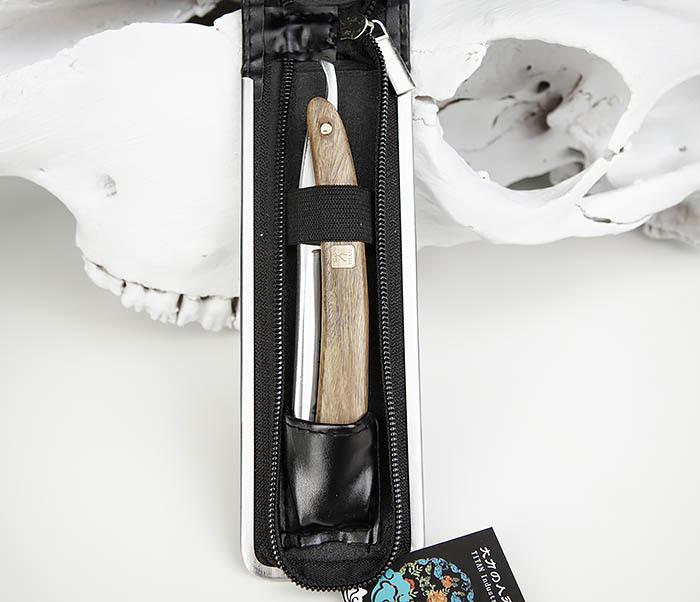 RAZ441-3 Опасная бритва с рукояткой из дерева, TITAN фото 02