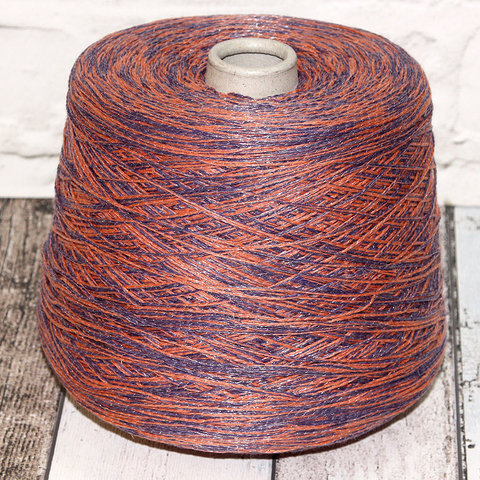 Смесовка со льном Casa Del Filato / BERRY  320 оранжево-фиолетовый
