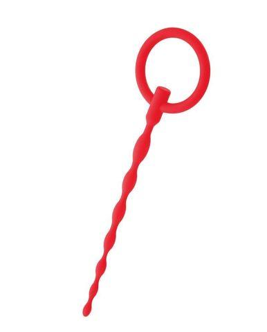 Красный уретральный плаг с кольцом