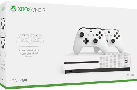 Xbox One S 1ТБ + Xbox Live Gold/Game Pass + второй геймпад