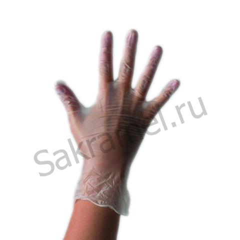 Перчатки неопудренные стандарт (Винил, прозрачный, M, 100 шт/упк)