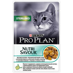 Pro plan nutrisavour sterelised with fish cat (pouch jelly)