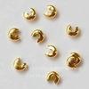 Бусина для маскировки кримпа 3 мм (цвет - золото), 10 штук