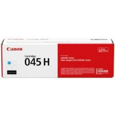 Тонер-картридж повышенной емкости Canon Cartridge 045 H C голубой (2200 стр) 1245C002