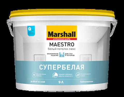 Marshall Maestro Белый Потолок Люкс Глубокоматовая краска для потолков.