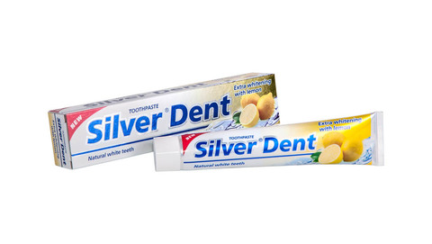 Modum Silver Dent Паста зубная Экстра отбеливание с лимоном 100г
