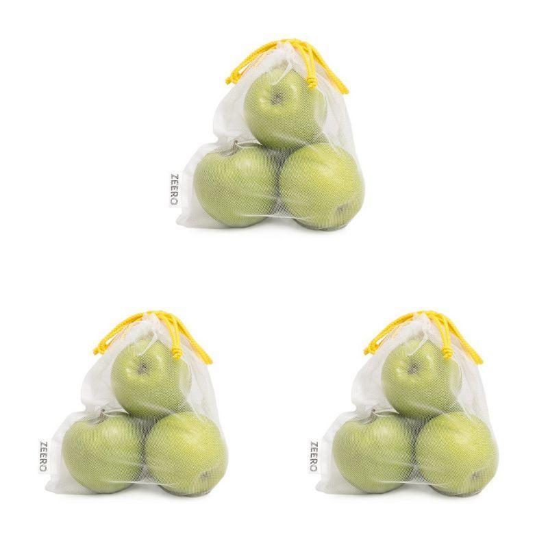 Набор маленьких белых экомешочков (3шт.)