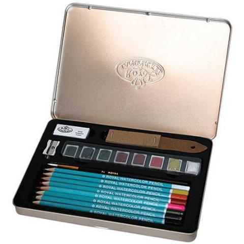 Набор акварельных карандашей и красок