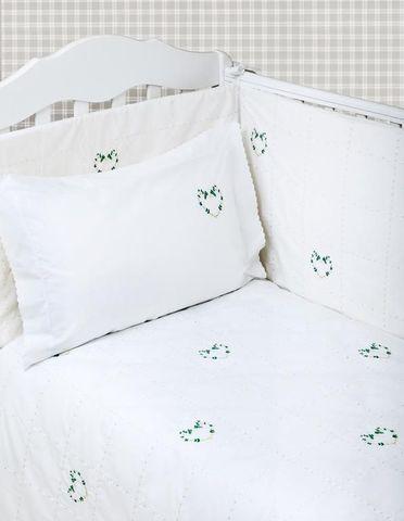 Бампер для детской кроватки 390х45 Bovi Сердечки