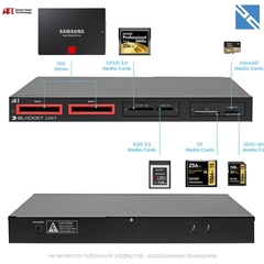 Картридер Atech Flash Technology CFast 2.0 / 2x SSD / XQD / CF / SD / microSD Blackjet UX-1 Cinema Dock USB Type-C